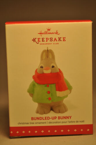 Hallmark Bundledup Bunny 2015 Keepsake Club Ornament
