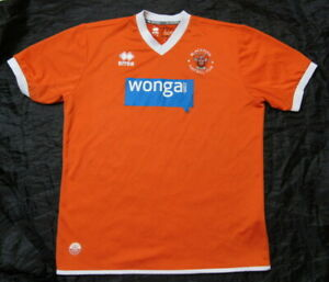 Blackpool Fc Home Jersey Shirt Errea 2013 2015 Pool The Seasiders Adult Size Xl Ebay