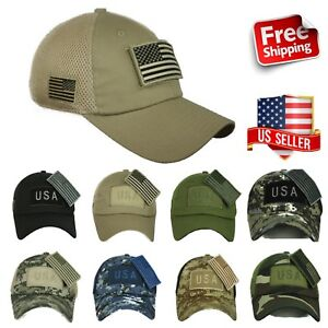 USA American US Flag Baseball Cap Mesh Trucker Tactical Operator ... 3415529c87b