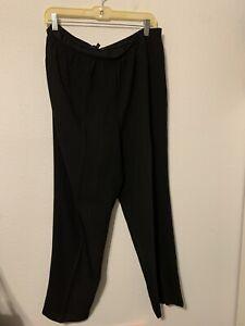 EILEEN FISHER WOMAN Black Pants Plus Size 1X Dressy Career