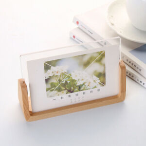 Acrylic-Photo-Frame-Clear-Freestanding-Picture-Frame-Frameless-Picture-Display