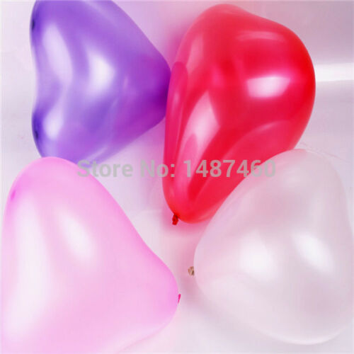 10pk Large Love Heart Shaped I Love you Valentines Day Wedding Latex Balloons