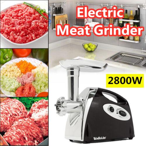 2800W Electric Meat Grinder Mincer Machine Kitchen Veget Chopper Reverse action