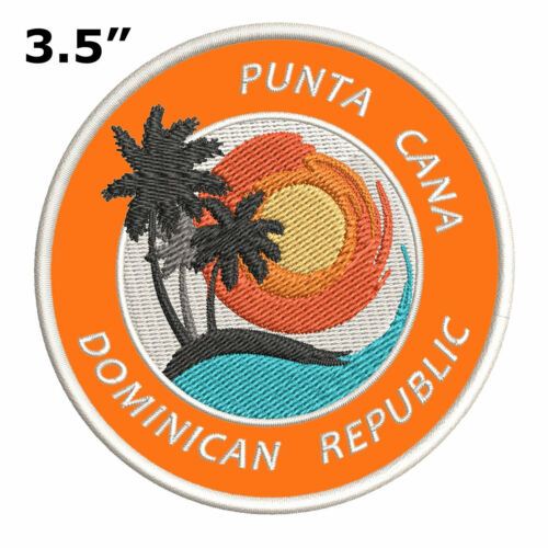"""Punta Cana Dominican Republic 3.5/"""" Embroidered Iron or Sew-on Patch Souvenir"""