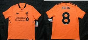 sports shoes 82b4b ee9de Details about Naby Keita #8 LIVERPOOL FC third shirt jersey NEW BALANCE  2017-2018 adult Size M
