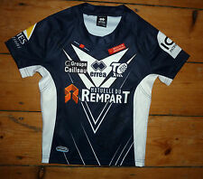 kids  Toulouse Olympique Bronco RUGBY SHIRT age 6-8 year NAVY  HOME SHIRT France