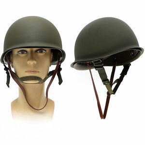USA-Green-WW2-Military-Steel-M1-Helmet-WWII-Army-Equipment-Fashion-Vintage