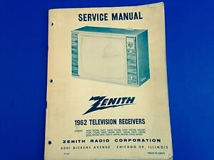 image is loading vintage-1962-zenith-television-receivers-service-manual- schematics-