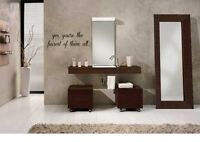 """YES YOU'RE THE FAIREST OF Wall Quotes Decals Lettering Sticker Sticky 24"""""""