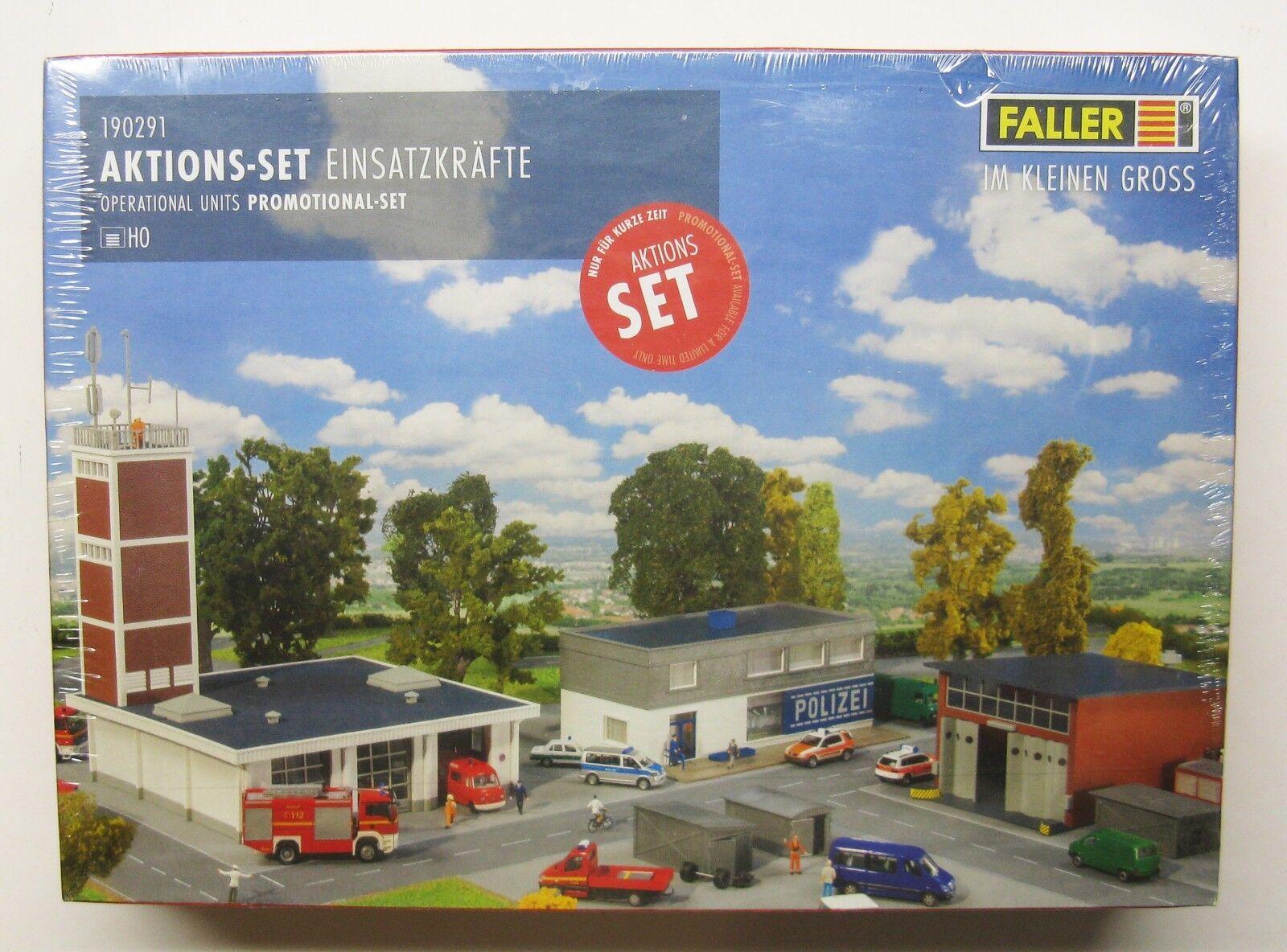 Faller H0 Model Kit 190291 OPERATIONAL UNITS PROMOTIONAL SET 1:87 POLIZEI