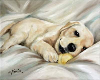 MARY SPARROW Cavalier King Charles Spaniel Dog Puppy Oil Painting PRINT MSSMITH