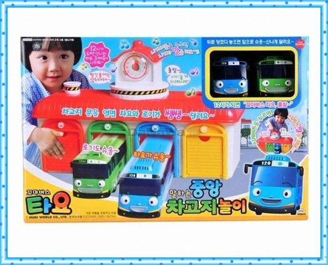 TAYO   The Little Bus Tayo Central Bus Garage Play Set with talking function