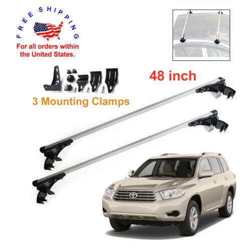 2 Aluminum Car Top Bar Rack 47 inch Crossbar Luggage For Toyota Highlander 02-12