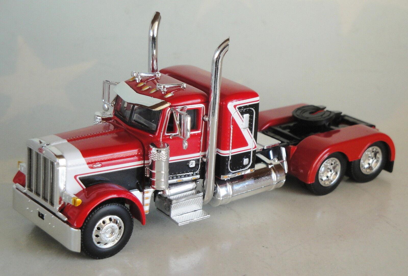rosso nero Peterbilt pequeño cabina de Día de litera opción sólo 1 64 DCP Diecast 33568C