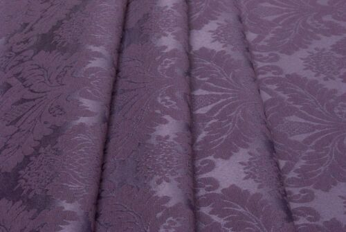 50x280-Upholstery Fabric Tessuto Damascato Jacquard Viola-cm