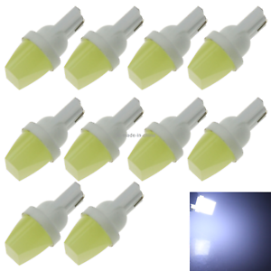 10x White RV T10 W5W Reverse Light Backup Bulb 1 Emitters LED 585 655 656 Z20915