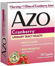 5 Pack AZO Cranberry Supplement Urinary Tract Health Probiotic 50 Caplets Each