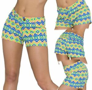 Sexy-Miss-Trend-Girly-Ladies-Hip-Hot-Pant-Shorts-L-38-XL-40-Colourful