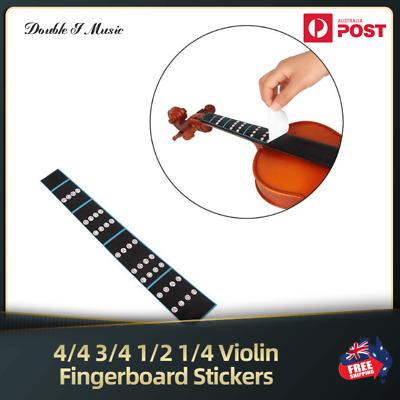 4/4 3/4 1/2 1/4 Violin Practice Finger Guide Sticker Fingerboard for Beginner    eBay