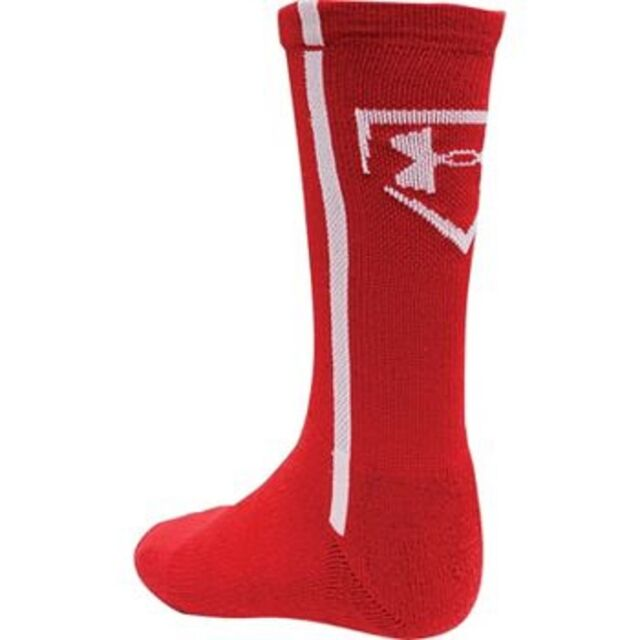 d17d352a34 2 Pairs Under Armour Men's Baseball Crew Socks Red Large L
