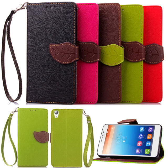 Dual Leaf Magnetic Wallet Card Flip Leather Case Cover For Lenovo S850 970 P70-t