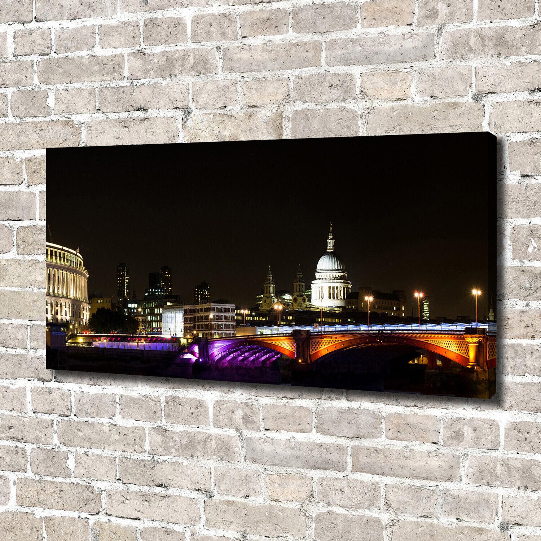 Leinwandbild Kunst-Druck 140x70 Bilder Brücke Nacht