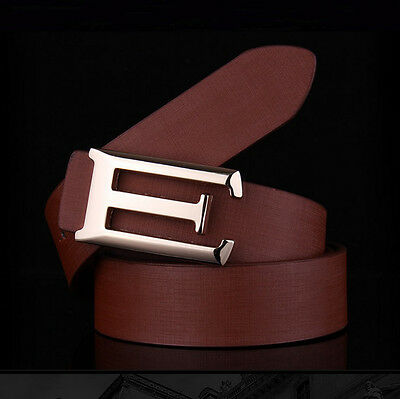 New Men Leather Smooth Pin Buckle Belt Casual Luxury Waist Strap Belt Waistband