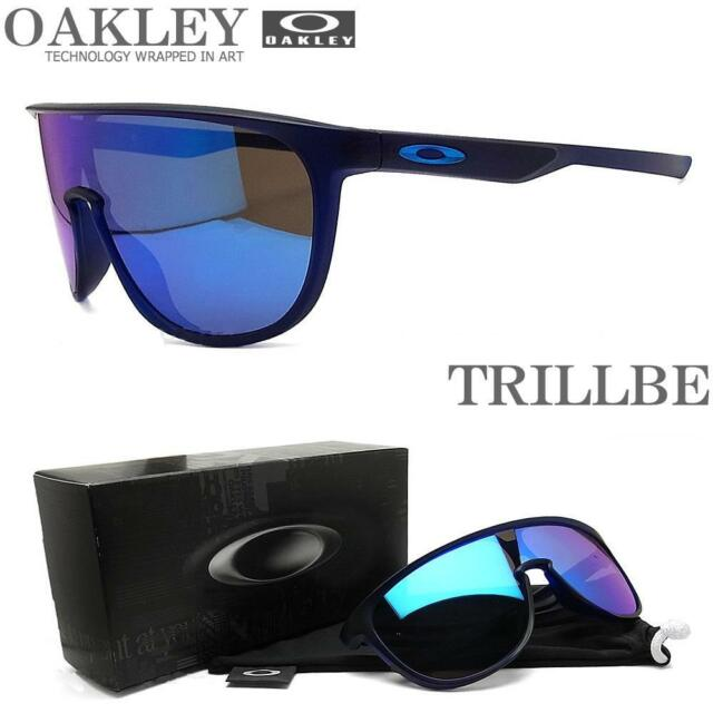 OAKLEY SUNGLASSES TRILLBE MATTE TRANS BLUE FRAME SAPPHIRE IRIDIUM LENSES NEW
