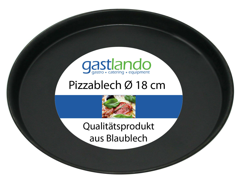 40 pezzo di pizza Lamiera qualità professionale stampo piatto rotondo Ø 18 cm gastlando