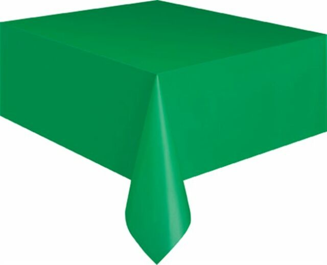 Plastic Tablecovers Table Cloth Cloths Rectangle Oblong 20 Colours