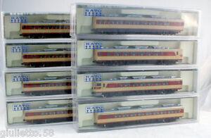 Kato Train S80 Espresso 8 Wagons 6007/6008/6011 Échelle-n