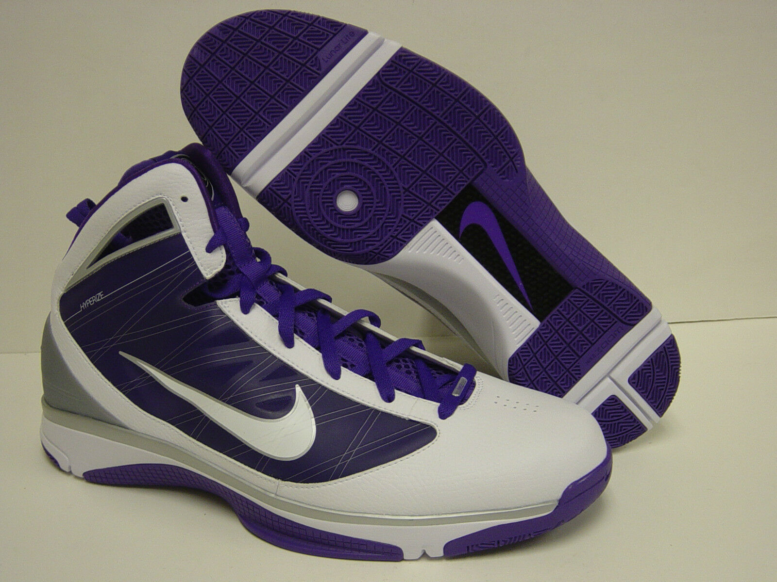 NEW Mens NIKE Hyperize TB 367181 118 White Purple Basketball Sneakers shoes