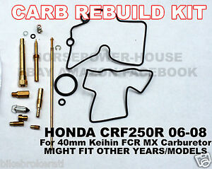 Details about CARBURETOR CARB REBUILD KIT MAIN PILOT LEAK JET O-RING NEEDLE  CLIP HONDA CRF250R