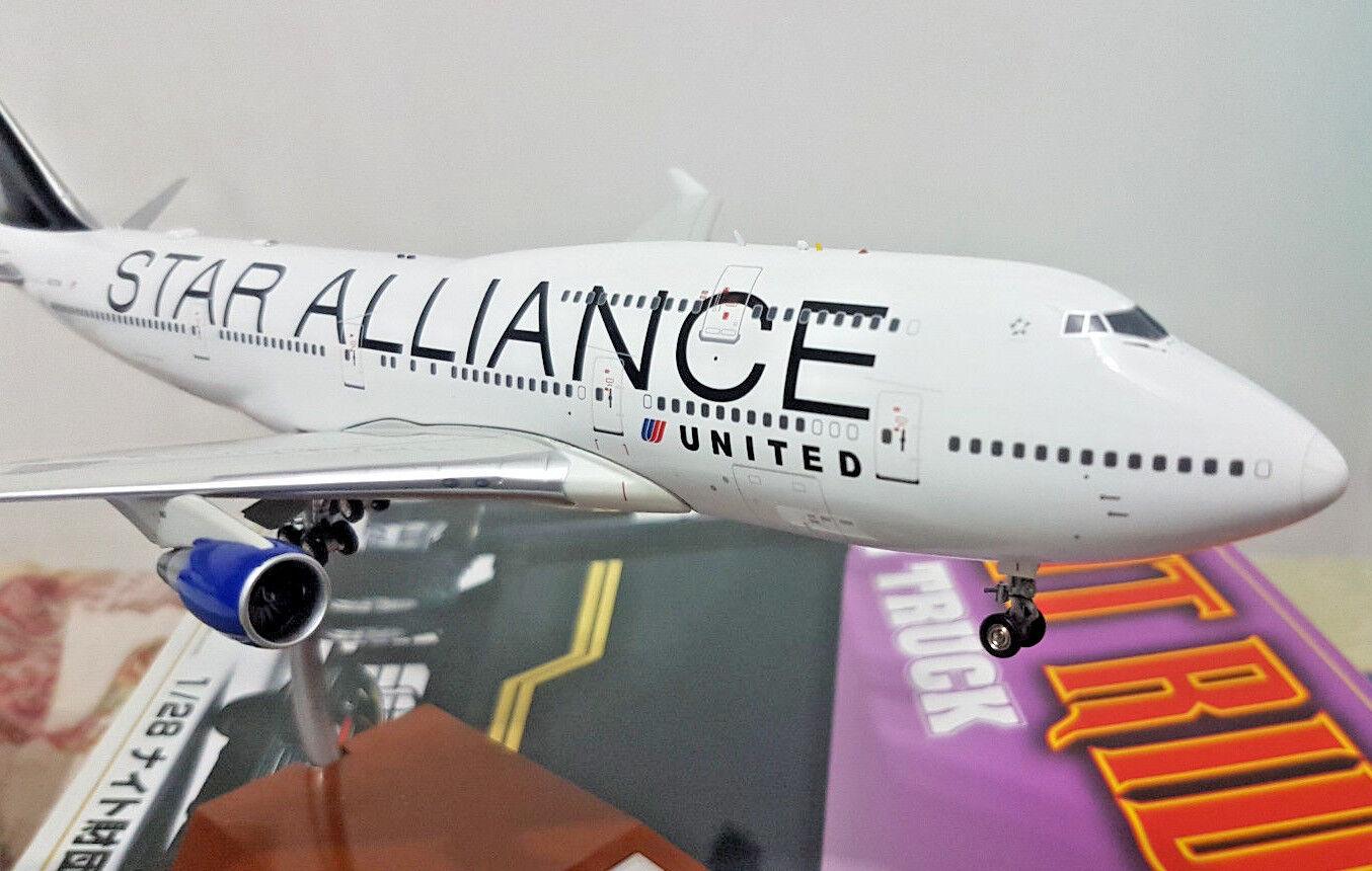 United Star Alliance Boeing B747-400 N121ua - Échelle 1 200 Die Cast - Jetx