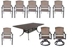 Cast Aluminum 9 Piece Patio Dining Set Elisabeth Table With Santa Clara Chairs