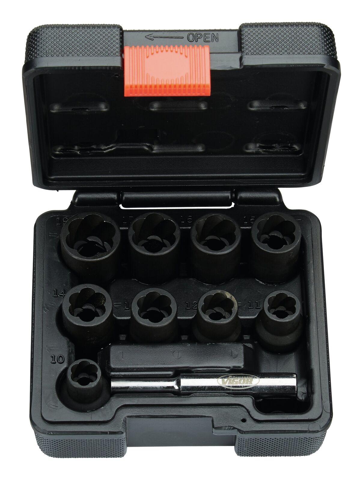 Spiralnuteinsatz-Satz 10-teilig 10-19mm Vigor - V2404 | Discount  | Am praktischsten  | Tadellos  | Abgabepreis