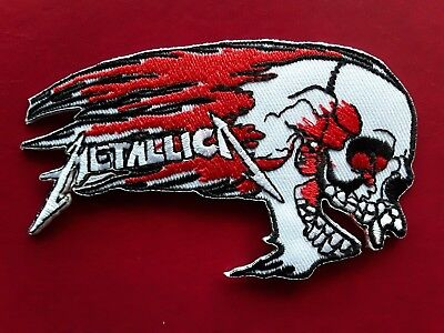 Metallica American Heavy Metal Band Iron on Sew on Embroidered Patch UK Seller