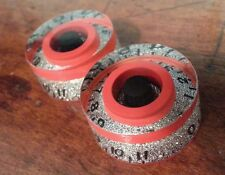 2 Guitar speed volume/tone knobs from 0-11.. Silver Flake/Red/Black..        JAT