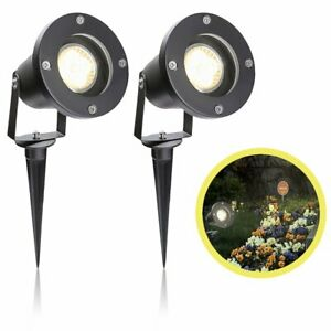 10x GU10 LED Gartenstrahler Gartenleuchte Bodenstrahler Strahler Außenlampe IP65