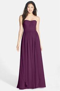 916602682de1 NWT Jenny Yoo 'Aidan' Convertible Strapless Chiffon Gown Prussian ...