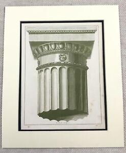 1859-Print-Architectural-Roman-Doric-Column-Architecture-Antique-Original