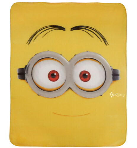 Despicable Me Minions Fleece Blanket Bed Throw New Gift Dave Cupcake 4 Designs