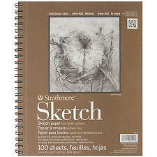 100 Sheet Sketch Pad Notebook 9 X 12. Sketchbook Art Artist Drawing Paper Book