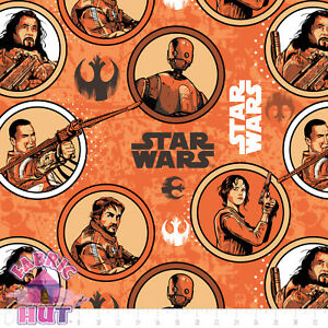 Star Wars Rogue One Light Orange Rebels 100/% cotton Camelot fabric by the yard