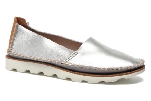 Bnib Chaussures Argentées Plats Cuir Cuir Damara Chic Fa À Et Talons En Clarks frfqzH