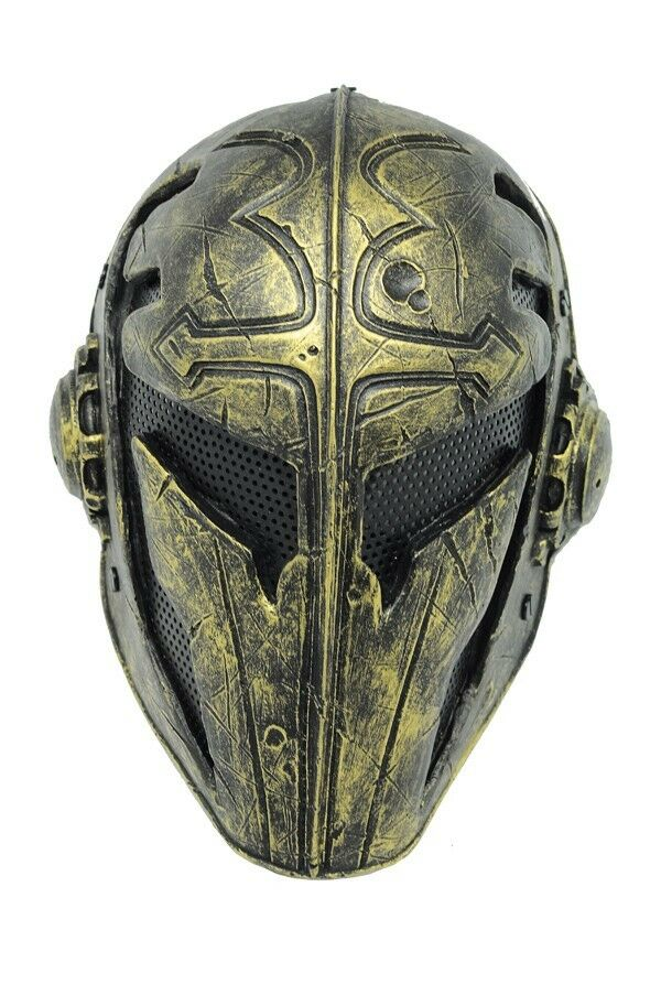 Outdoor goldenPaintball Airsoft Full Face Predection Templar Mask Cosplay A563