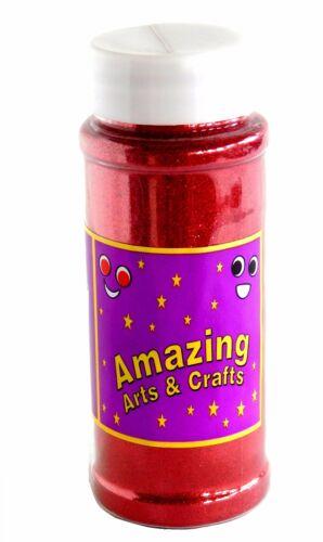 Rosso Glitter Shaker PENTOLA 100g circa da incredibile Arti e Mestieri