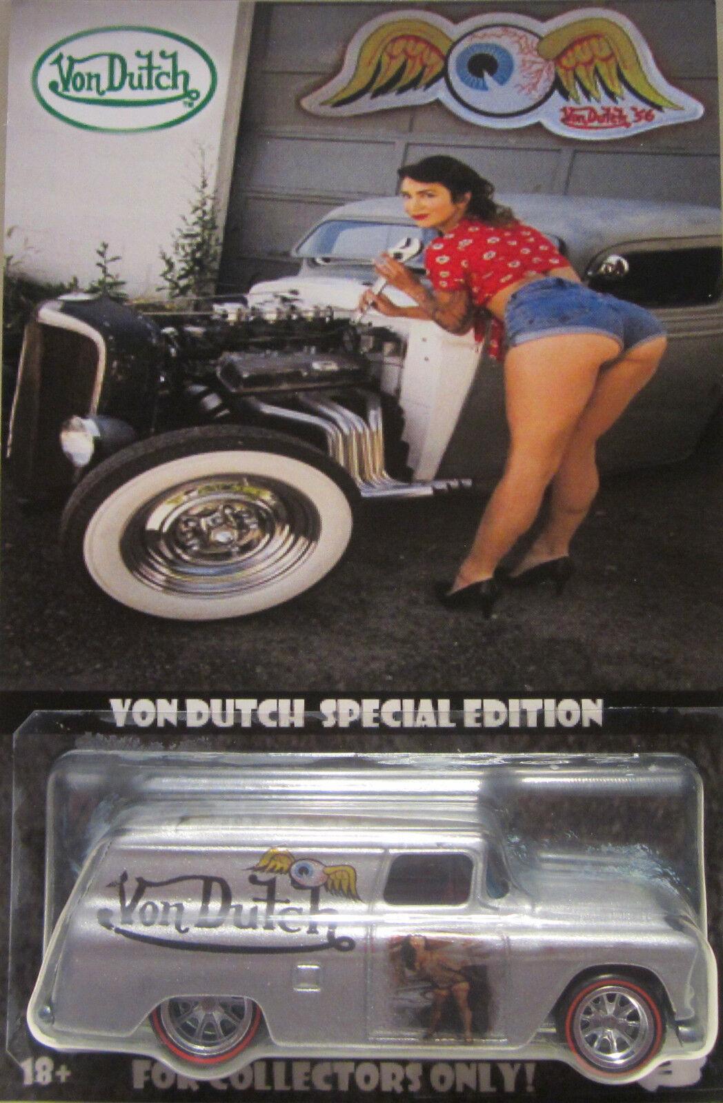 Hot Hot Hot Wheels Personnalisé '55 Chevy Panneau Von Néerlandaise Real Riders e31831