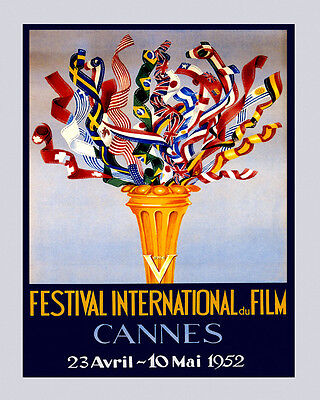 Film Festival Movie Cannes French Riviera 16X20 Vintage Poster FREE S//H