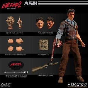One-12-colectivo-Evil-Dead-2-Ash-1-12th-Scale-Action-Figure-Mezco-En-Stock